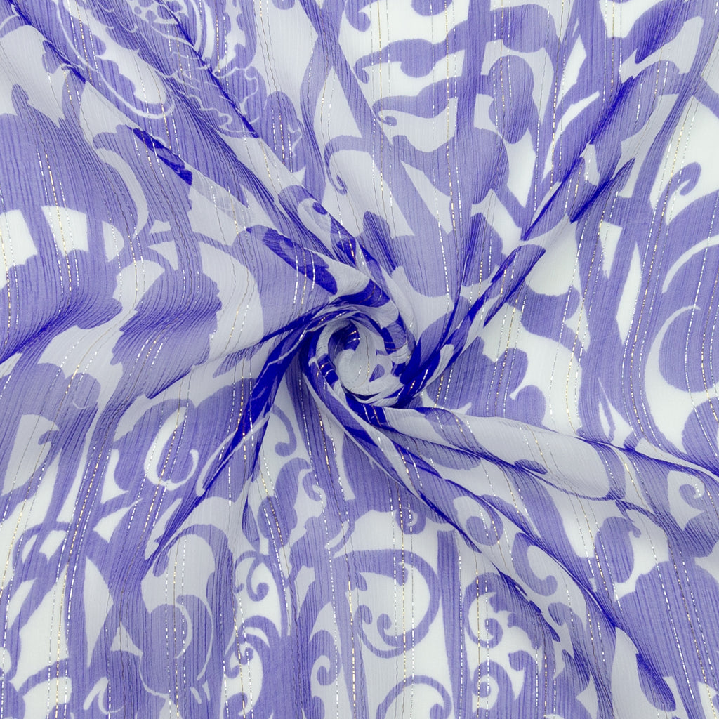 Pons Purple Floral Silk Georgette