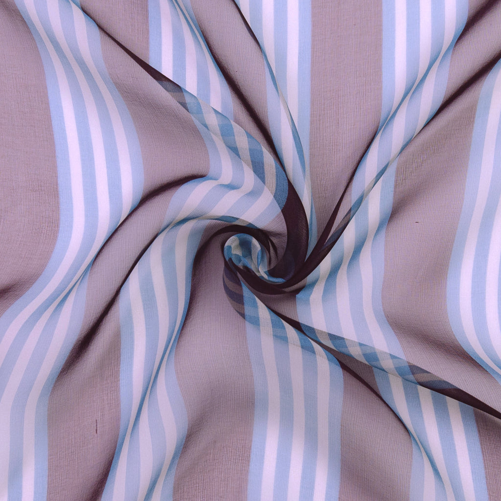 Raul Stripes Silk Chiffon