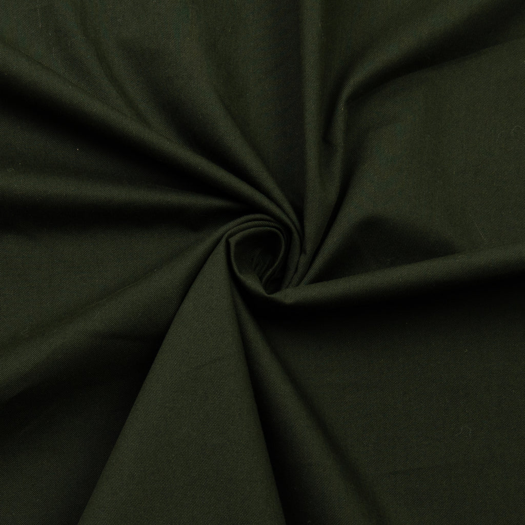 Pramoda Dark Green Cotton Twill