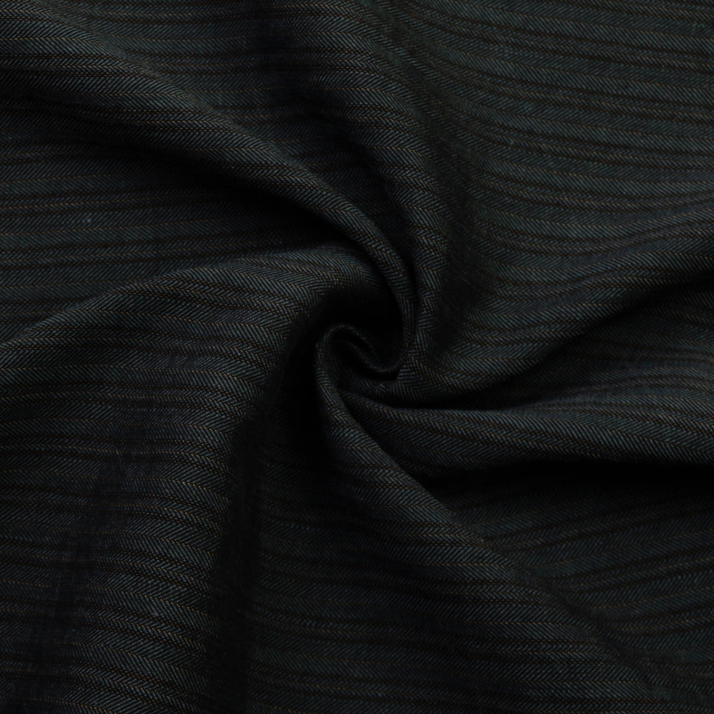 Delilah Grey Herringbone Cotton Linen Blend