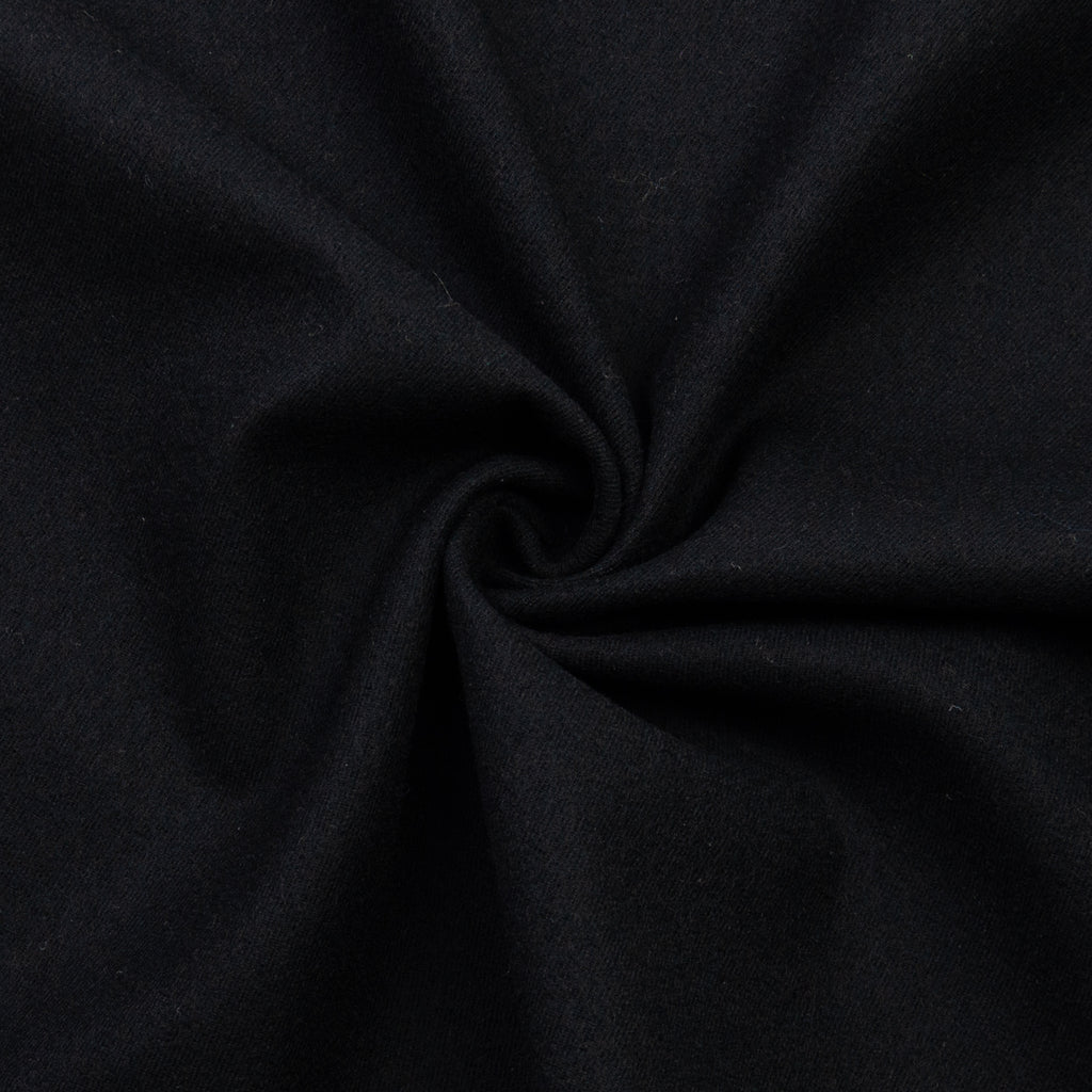 Gala Black Wool Cotton Blend