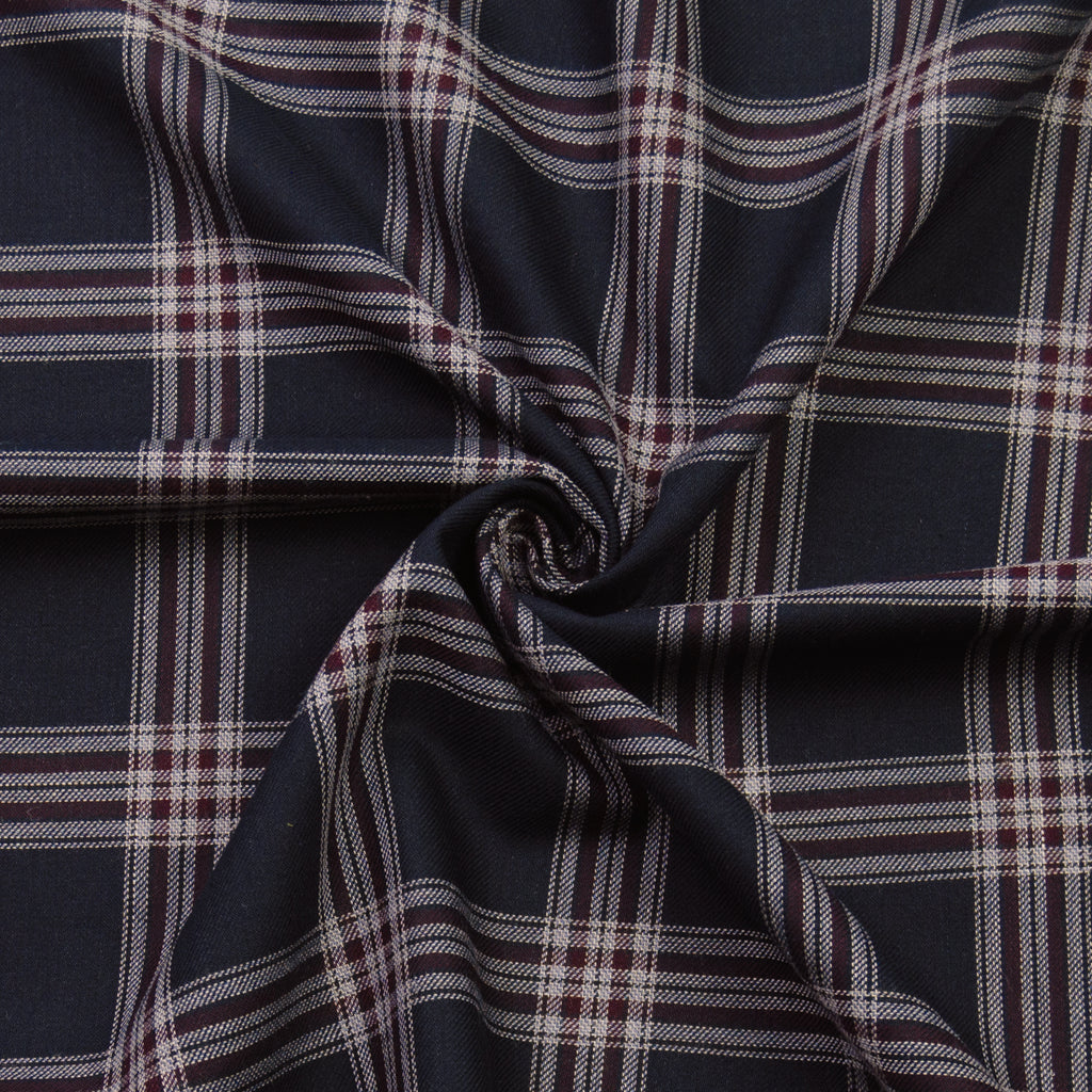 Billy Navy Plaid Cotton