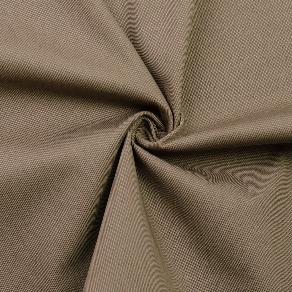 Bambina Khaki Twill Stretch Cotton