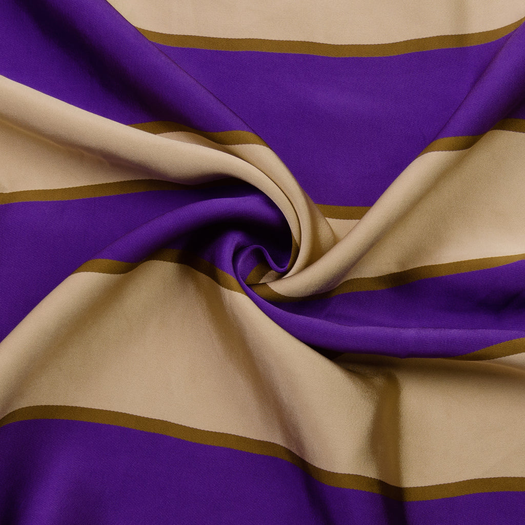 Phineas Striped Viscose Satin