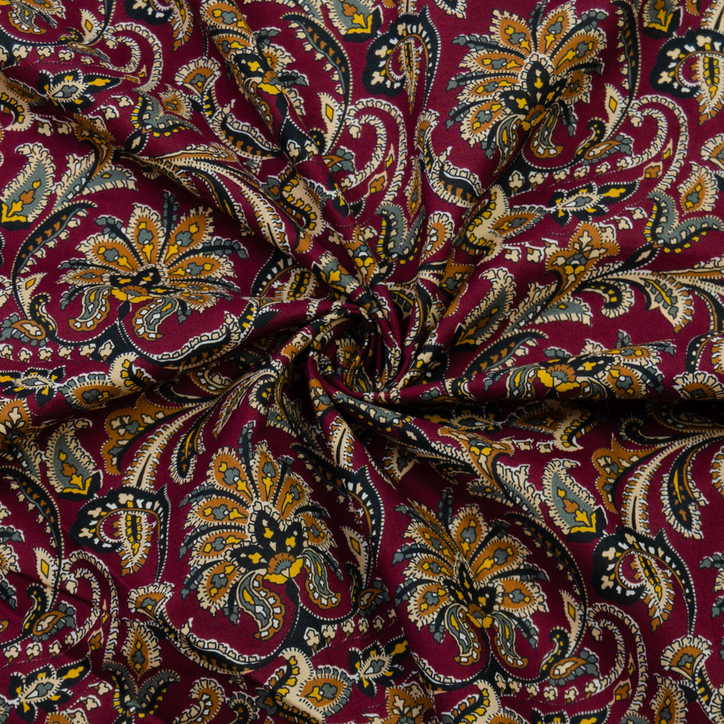 Prescott Wine Red Print Cotton