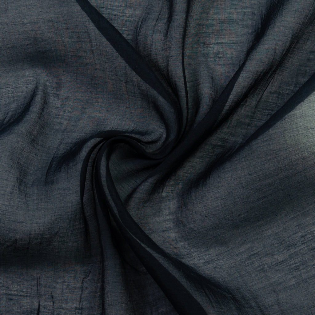 Pete Blue Grey Silk Cotton Blend