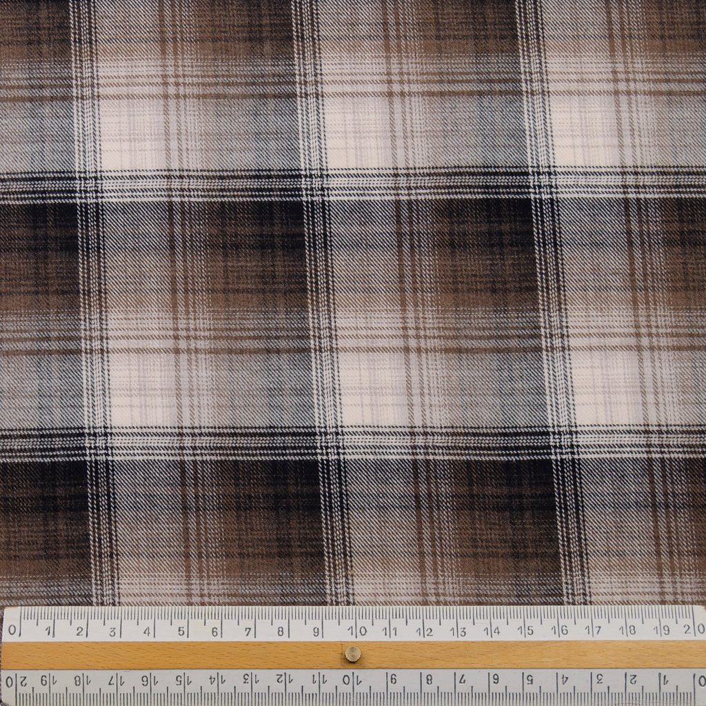 Prema Brown Cotton Tartan