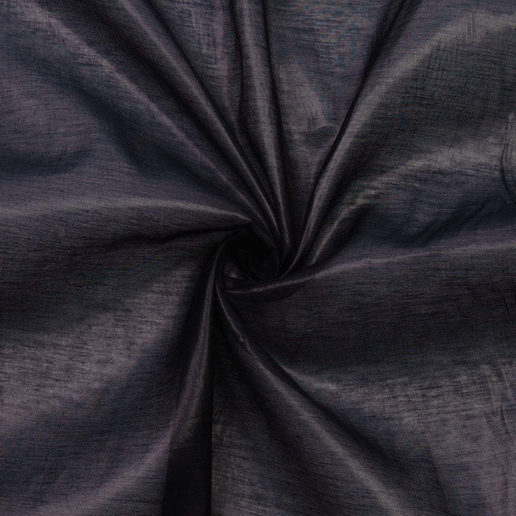 Perlita Navy Voile Silk Cotton Blend