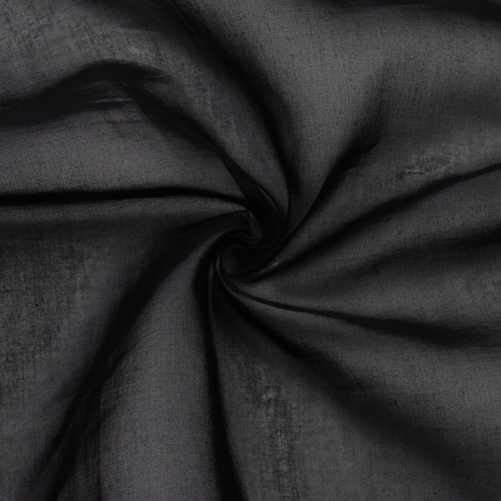 Pertessa Black Cotton Organdy