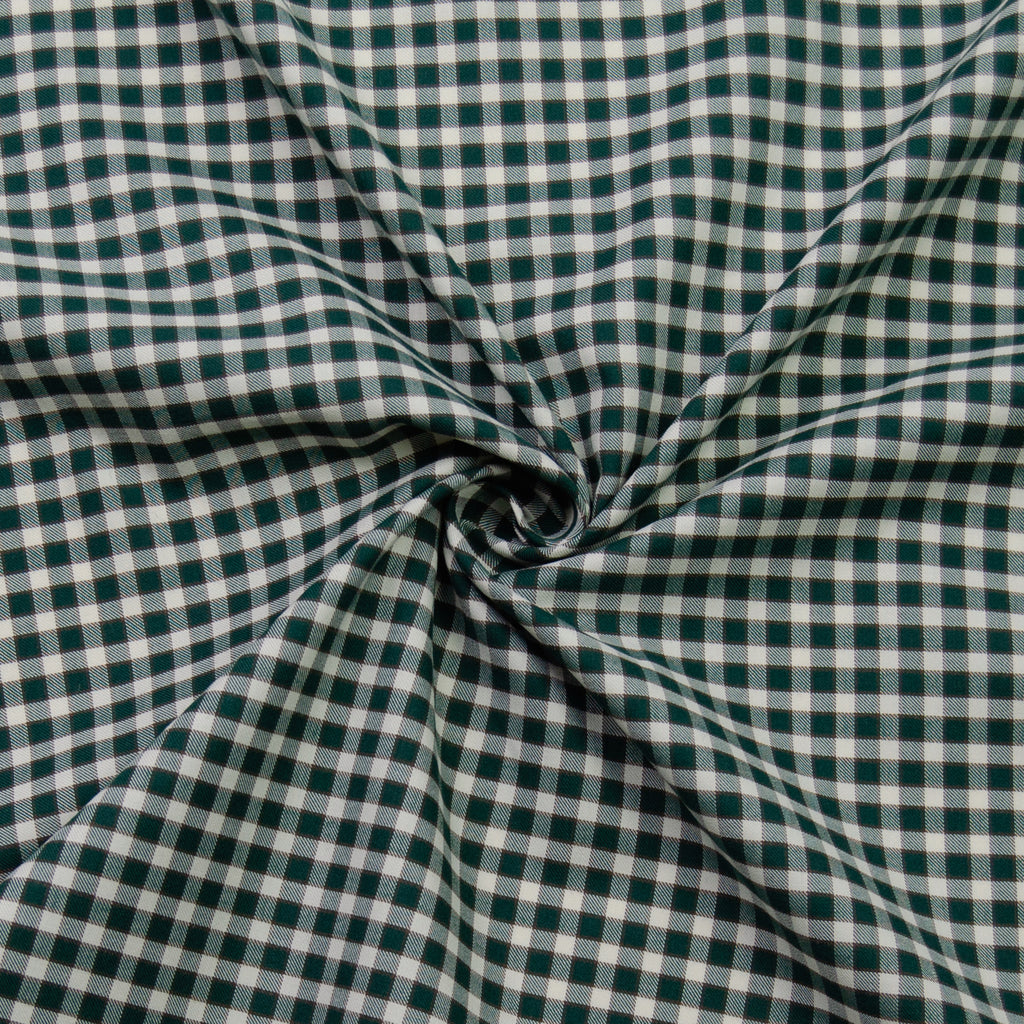 Rabi Green Vichy Cotton Poplin