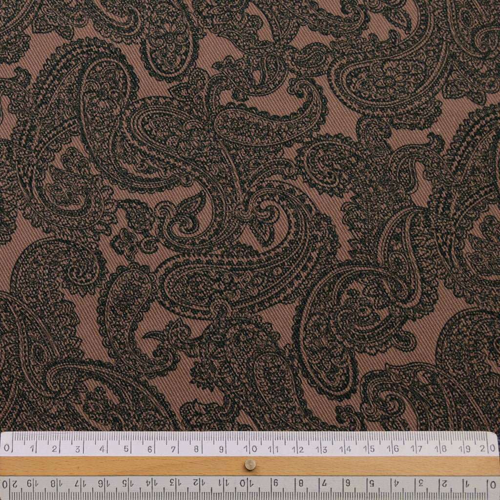 Raffi  Brown Print Cotton Denim