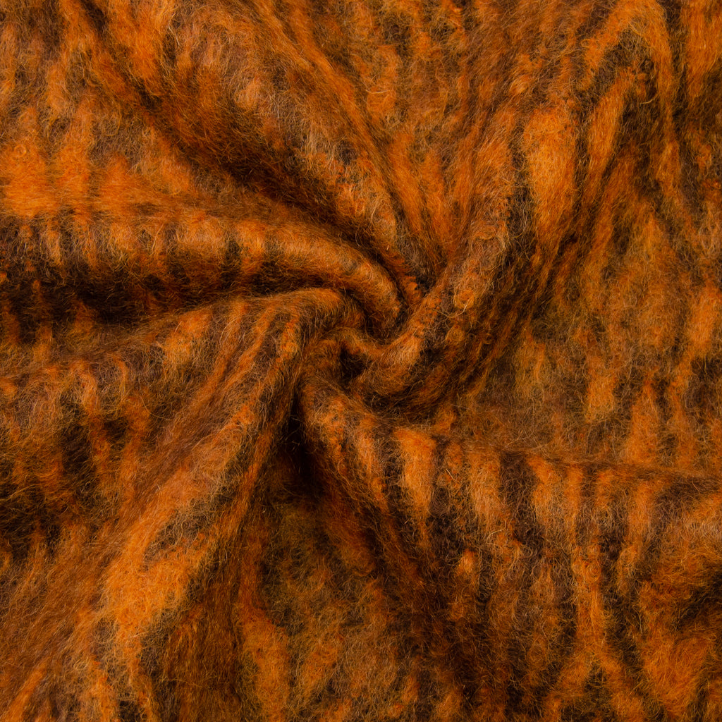 Vinaya Rust Furry Mohair Wool Blend