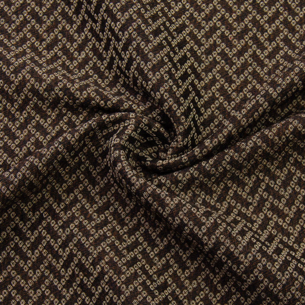 Elisabeta Brown Cotton Wool Jacquard