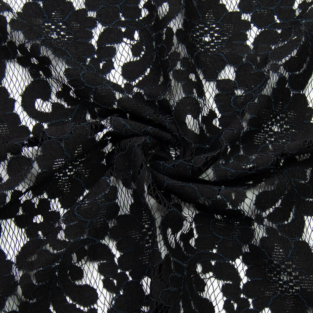 Baden Black Lace Cotton Polyester Blend