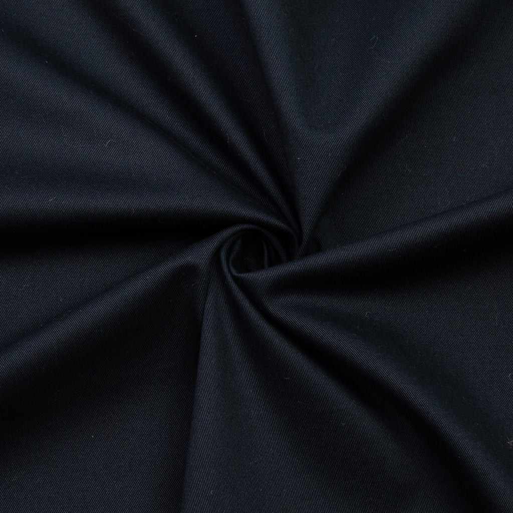 Bahar Black Cotton Gabardine