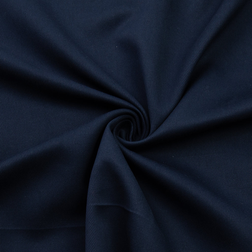 Vitalia Navy Blue Twill Cotton Viscose Blend