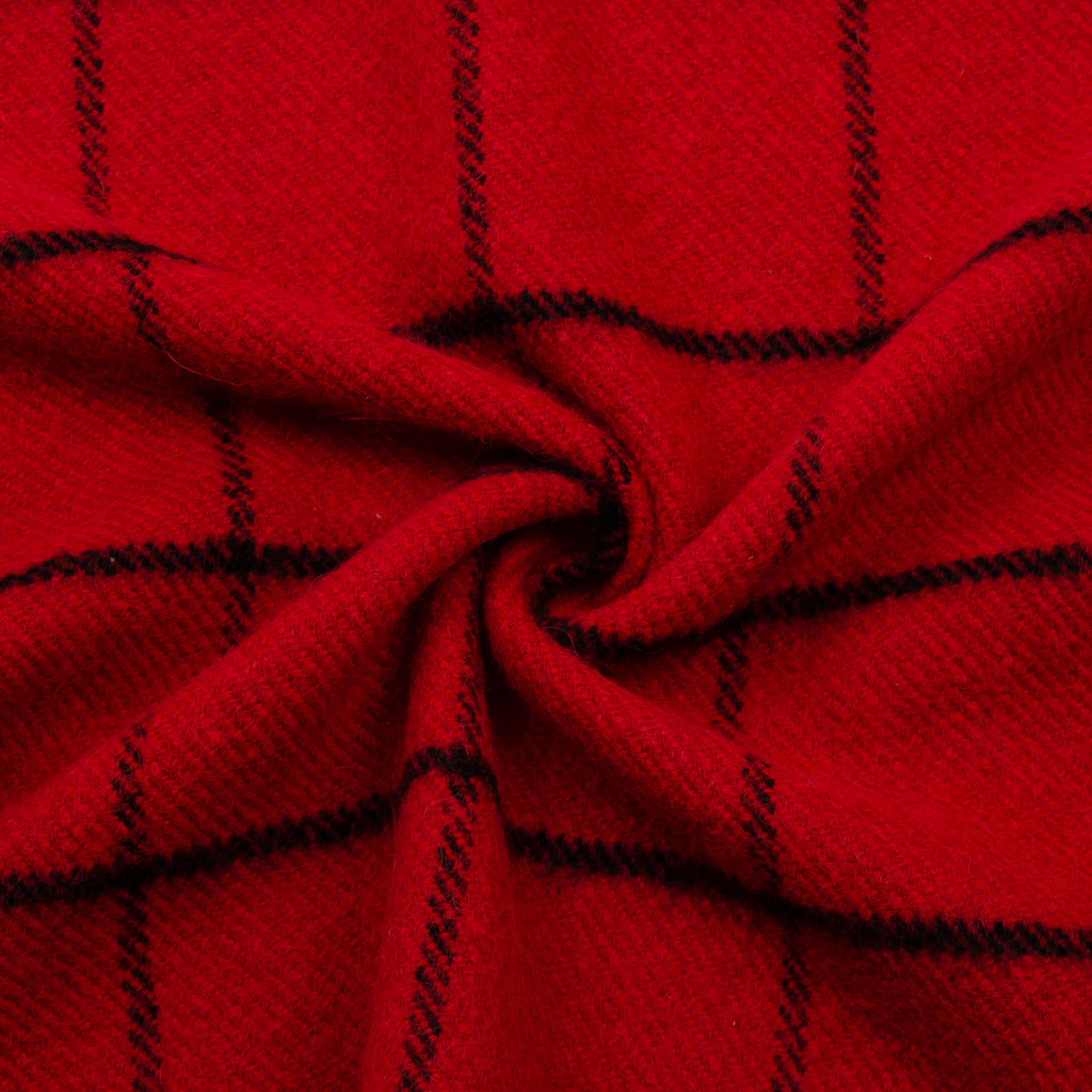 Damaso Red Squared Wool Blend