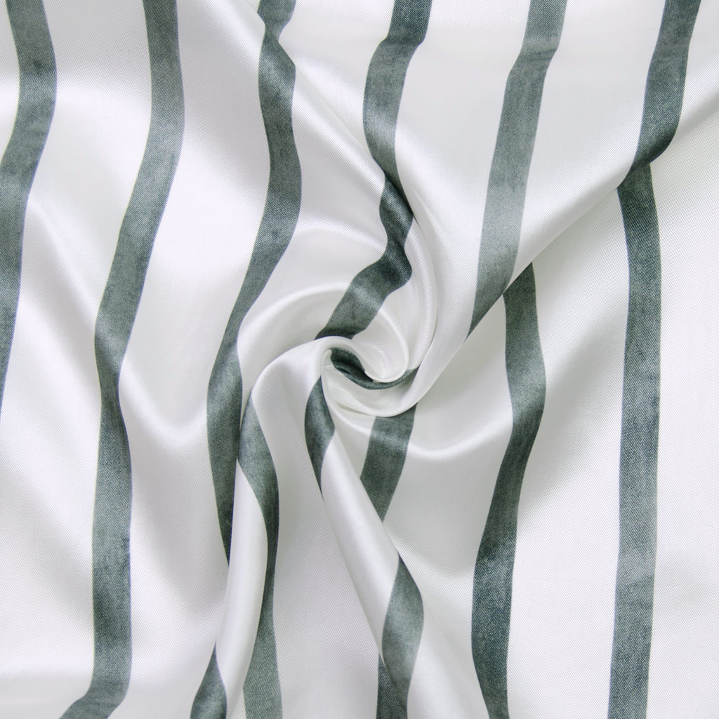 Valda Grey & White Stripe Viscose