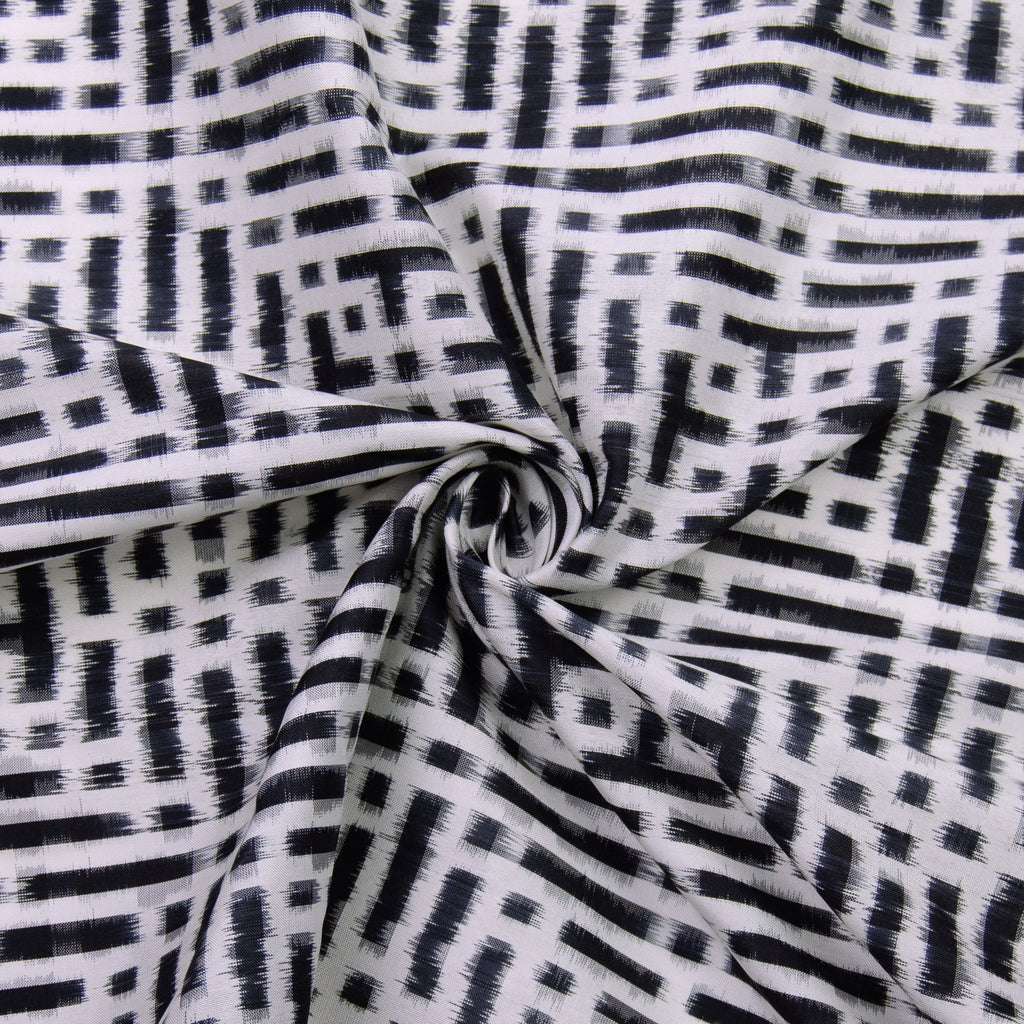 Vahide Black & White Cotton
