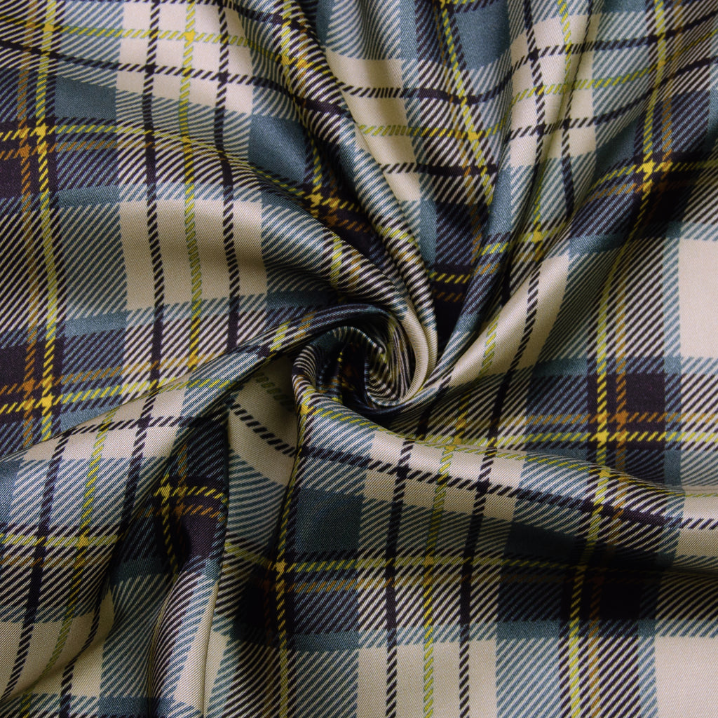 Portillo Plaid Viscose Satin