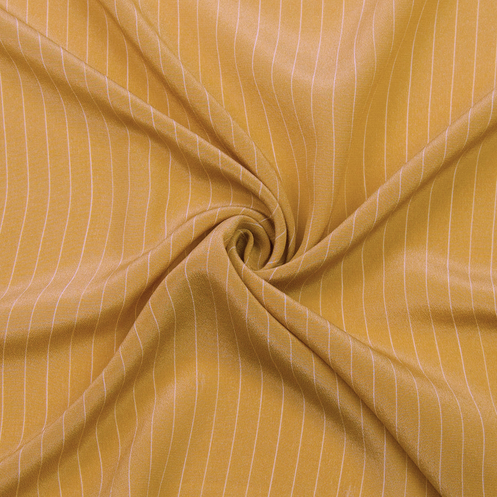 Raisie Mustard Striped Silk