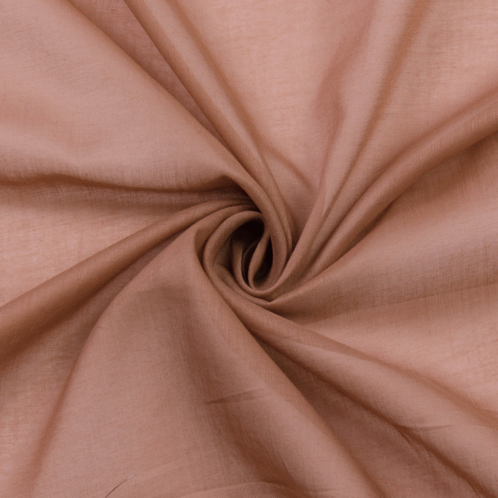 Patty Light Brown Cotton Voile