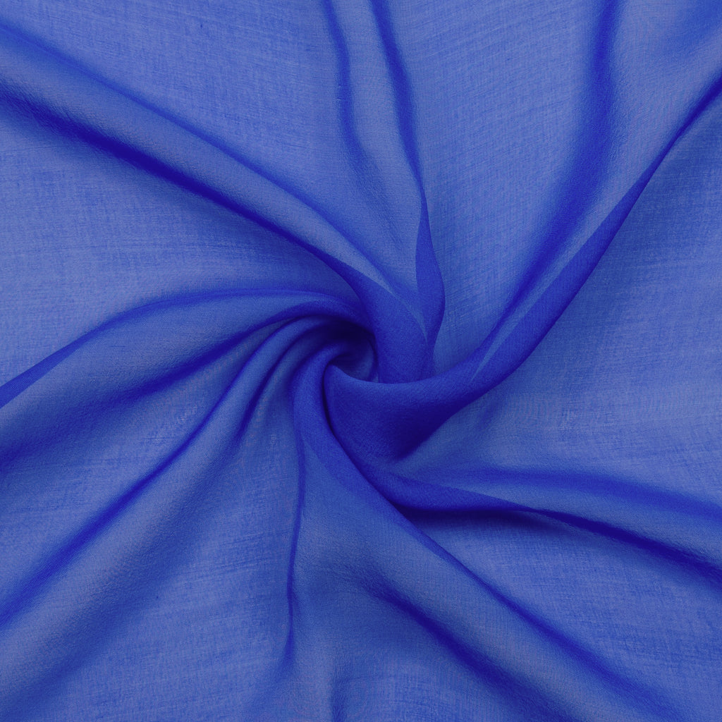Pacheco Electric Blue Silk Chiffon
