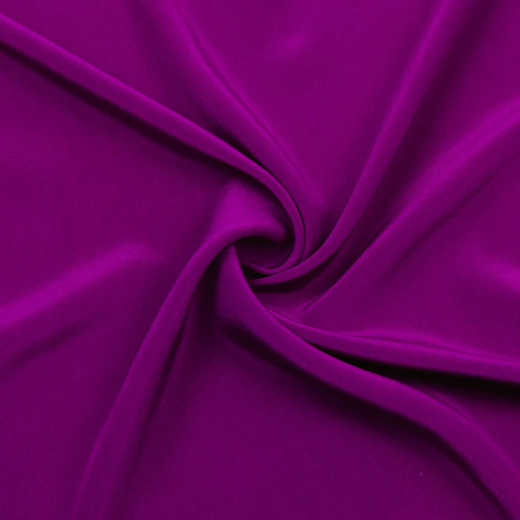 Poma Vivid Purple Silk Crêpe De Chine