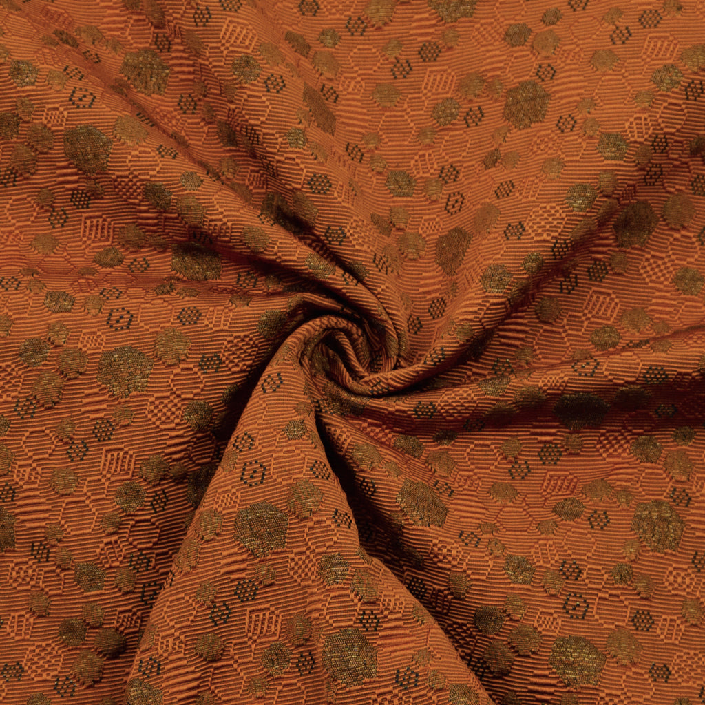 Parees Orange Polyester Jacquard