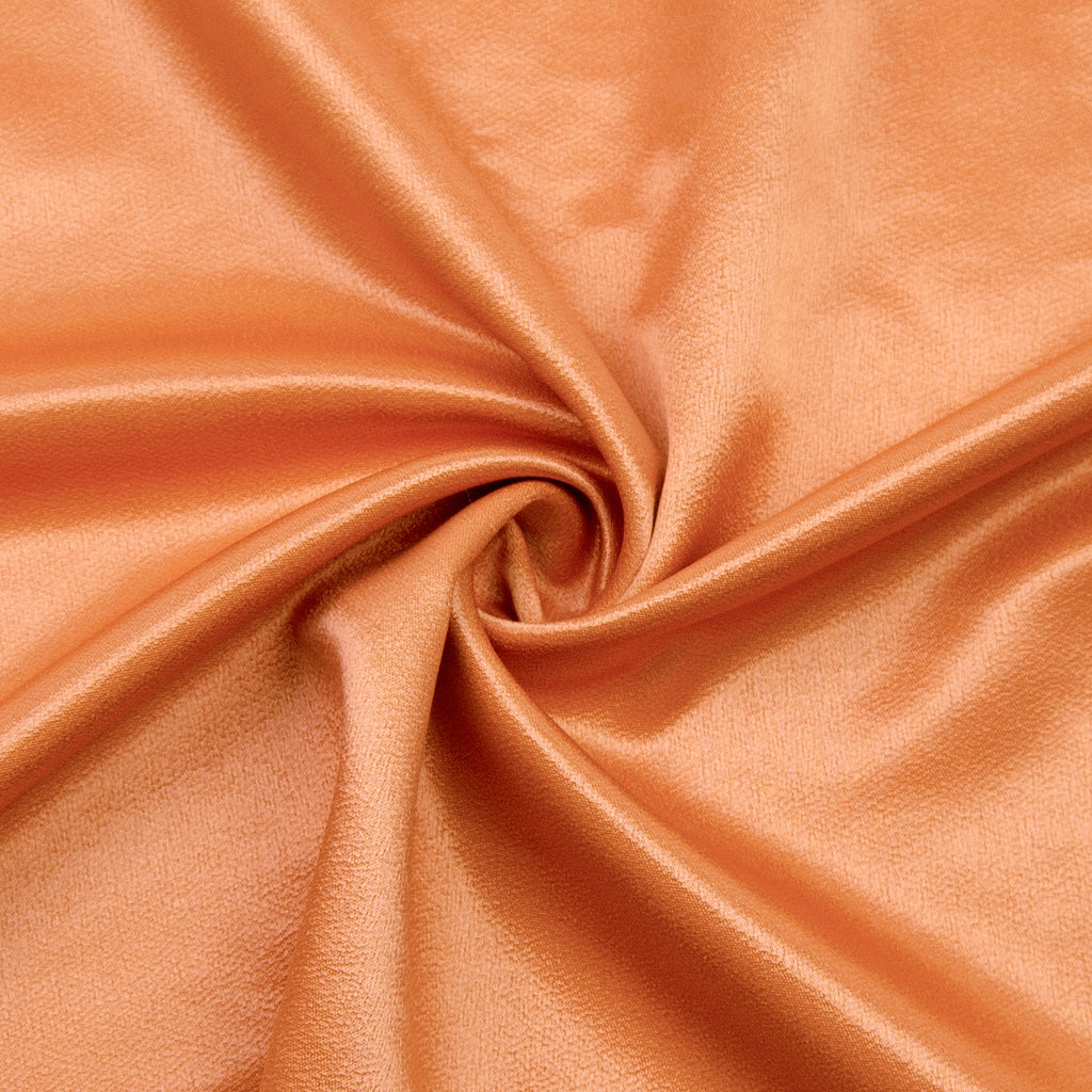 Raisa Orange Wool Viscose Satin