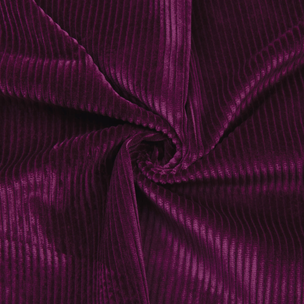 Reiki Fushia Cotton Corduroy Stretch