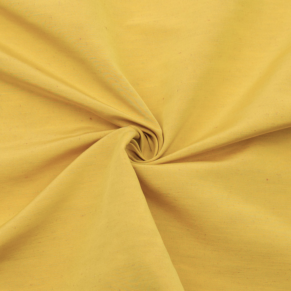 Piera Yellow Polyester & Linen Blend