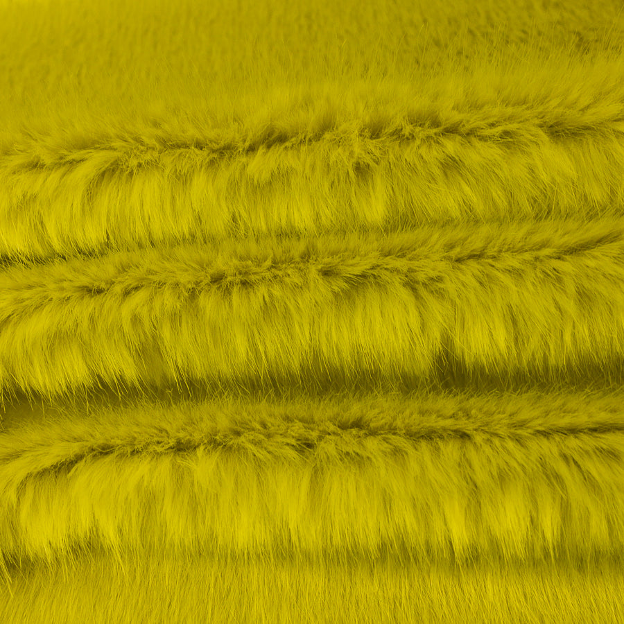 Julia Yellow Faux Fur