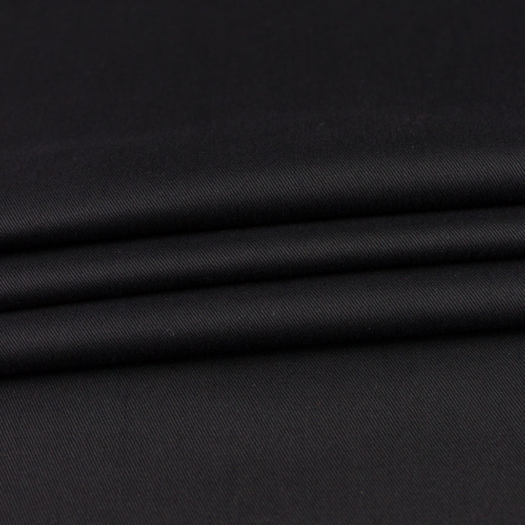 Waldorf Black Cotton Stretch Gabardine