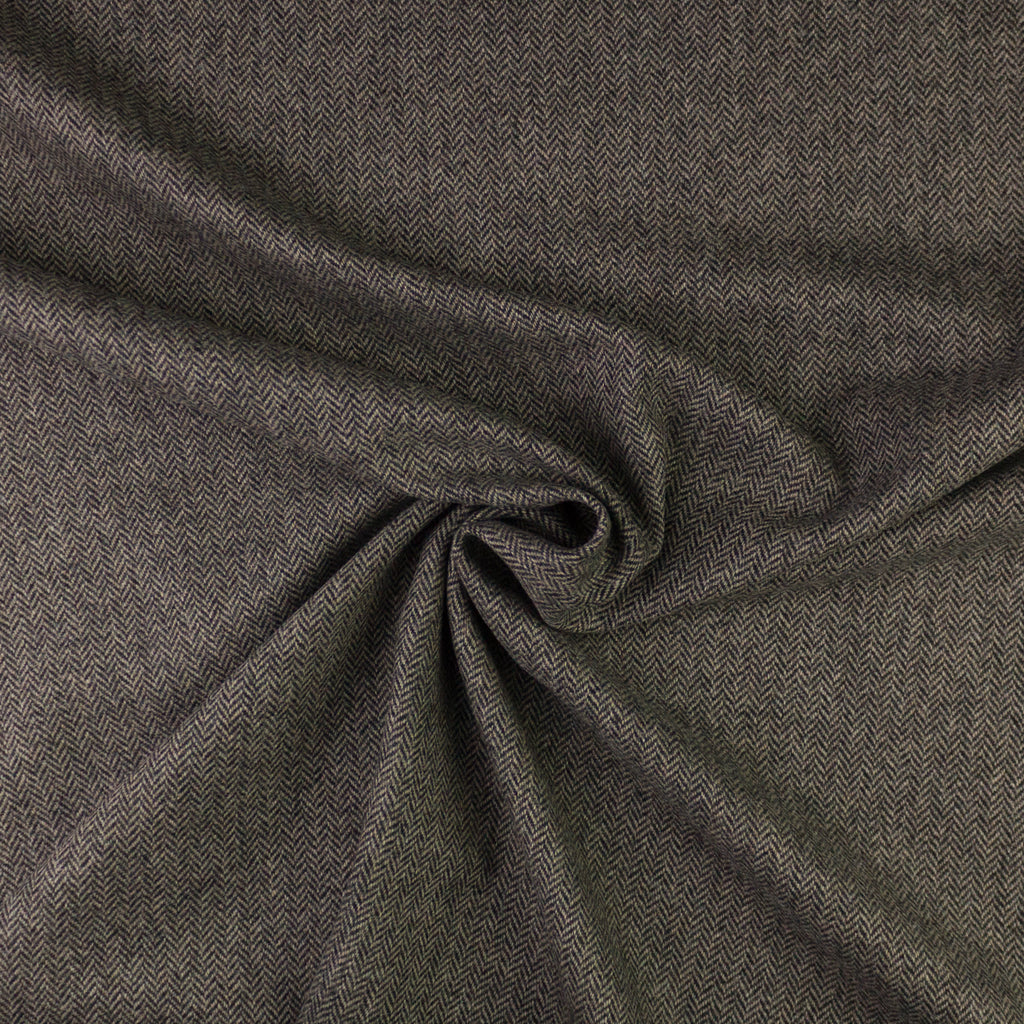 Monic Taupe/Black Herringbone Wool