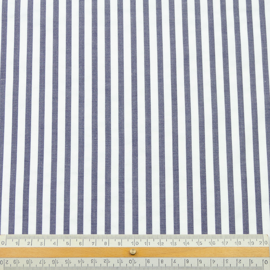 Etty Blue & White Stripe Cotton