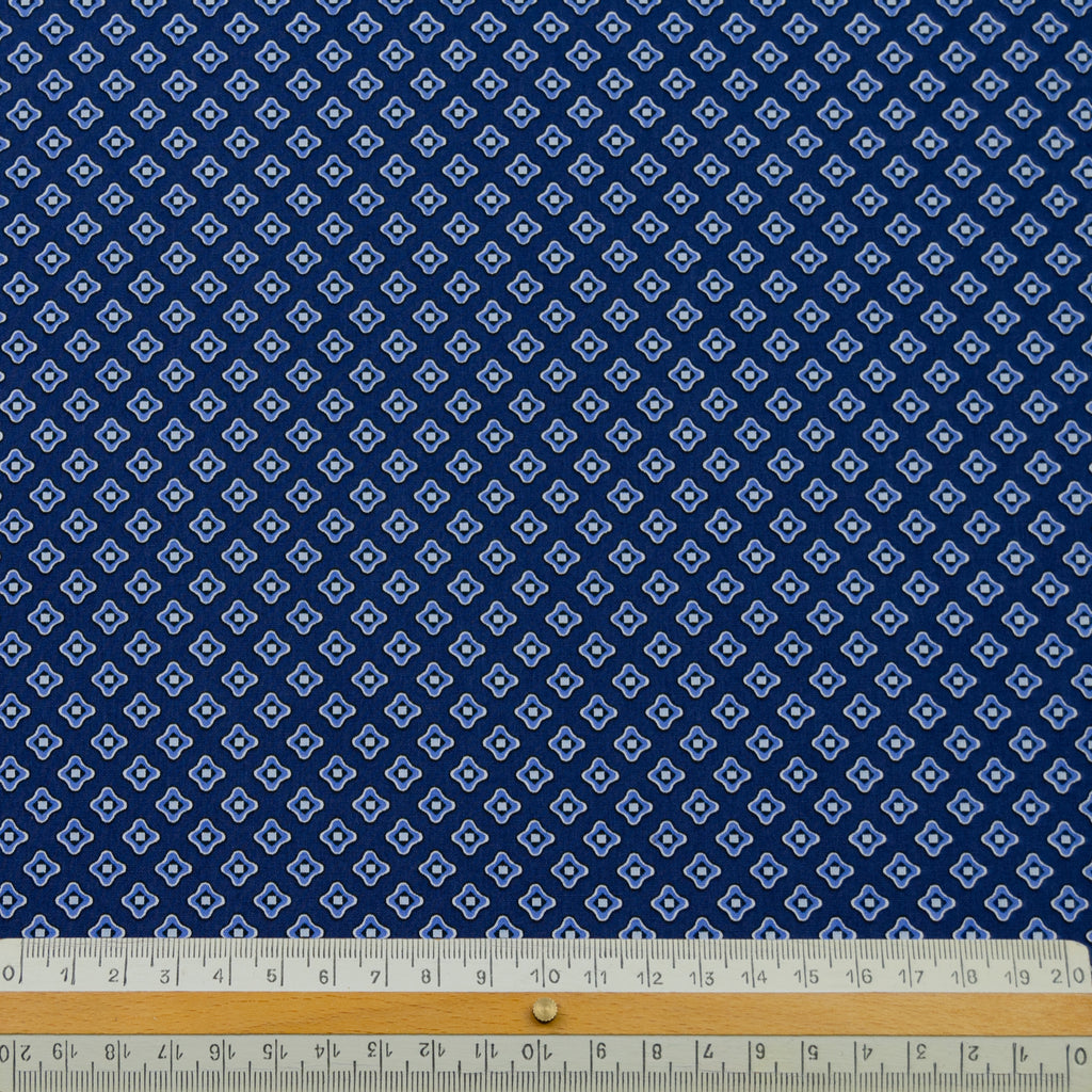 Emory Blue Printed Cotton