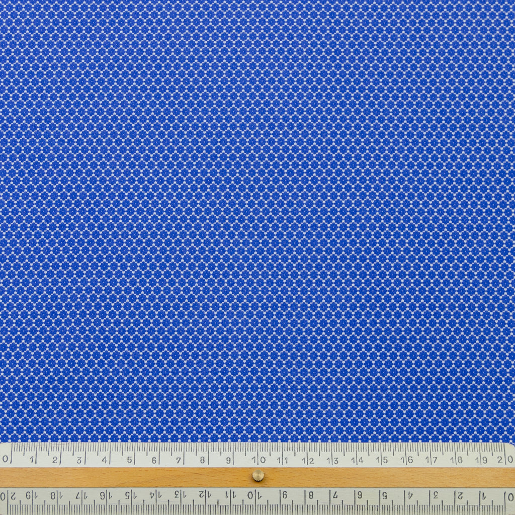 Ervin Blue Geometric Print Cotton