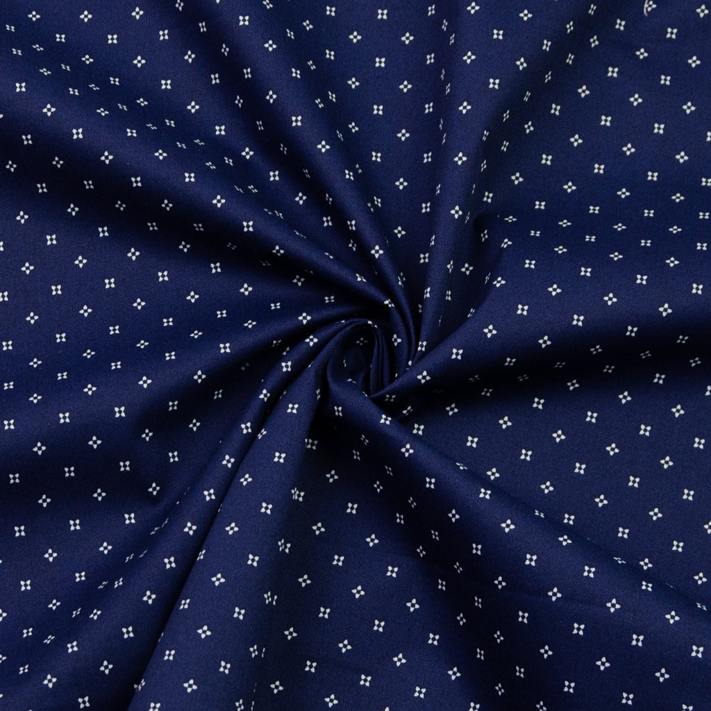 Madra Dark Blue Print Cotton