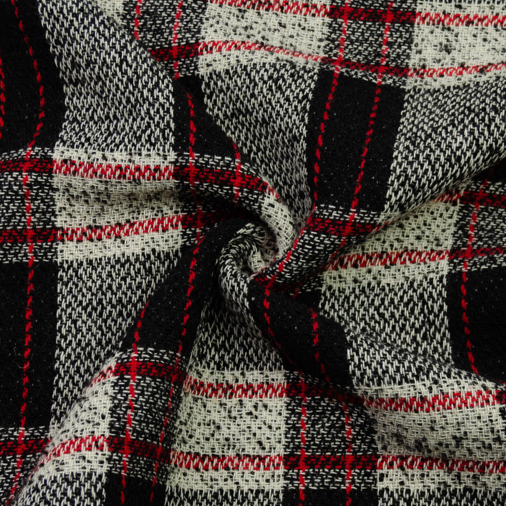 Edel Check Virgin Wool Blend