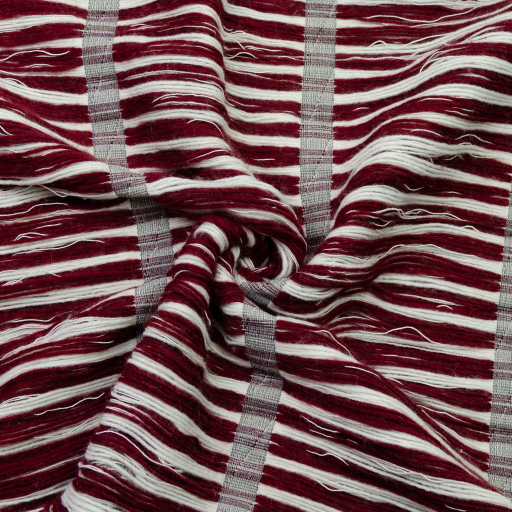 Eletta Striped Furry Polycotton