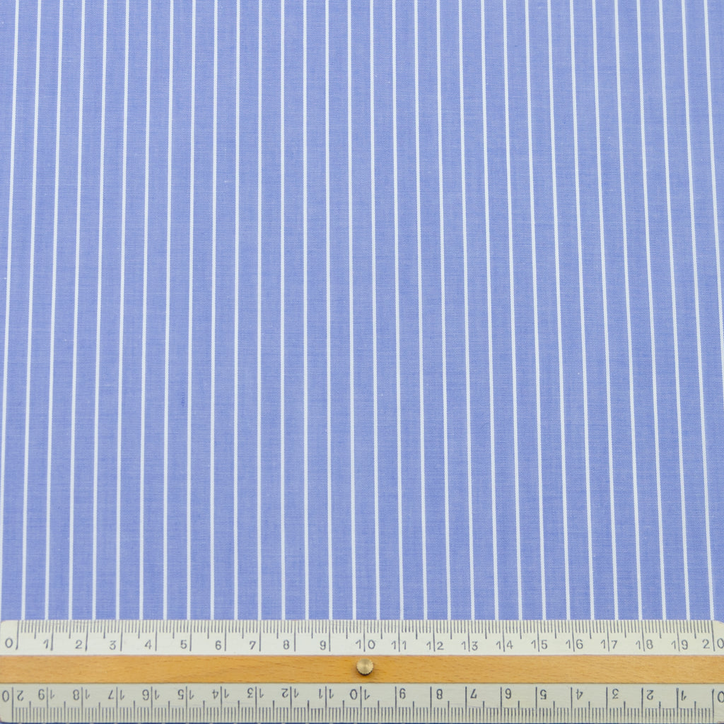 Etienne Blue & White Stripe Cotton