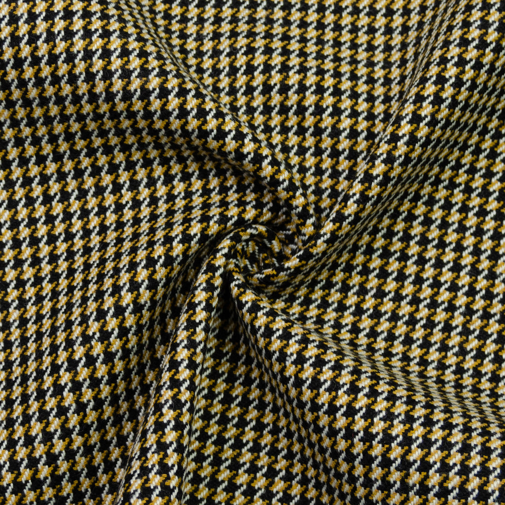 Edsel Houndstooth Wool Cotton Polyester Blend