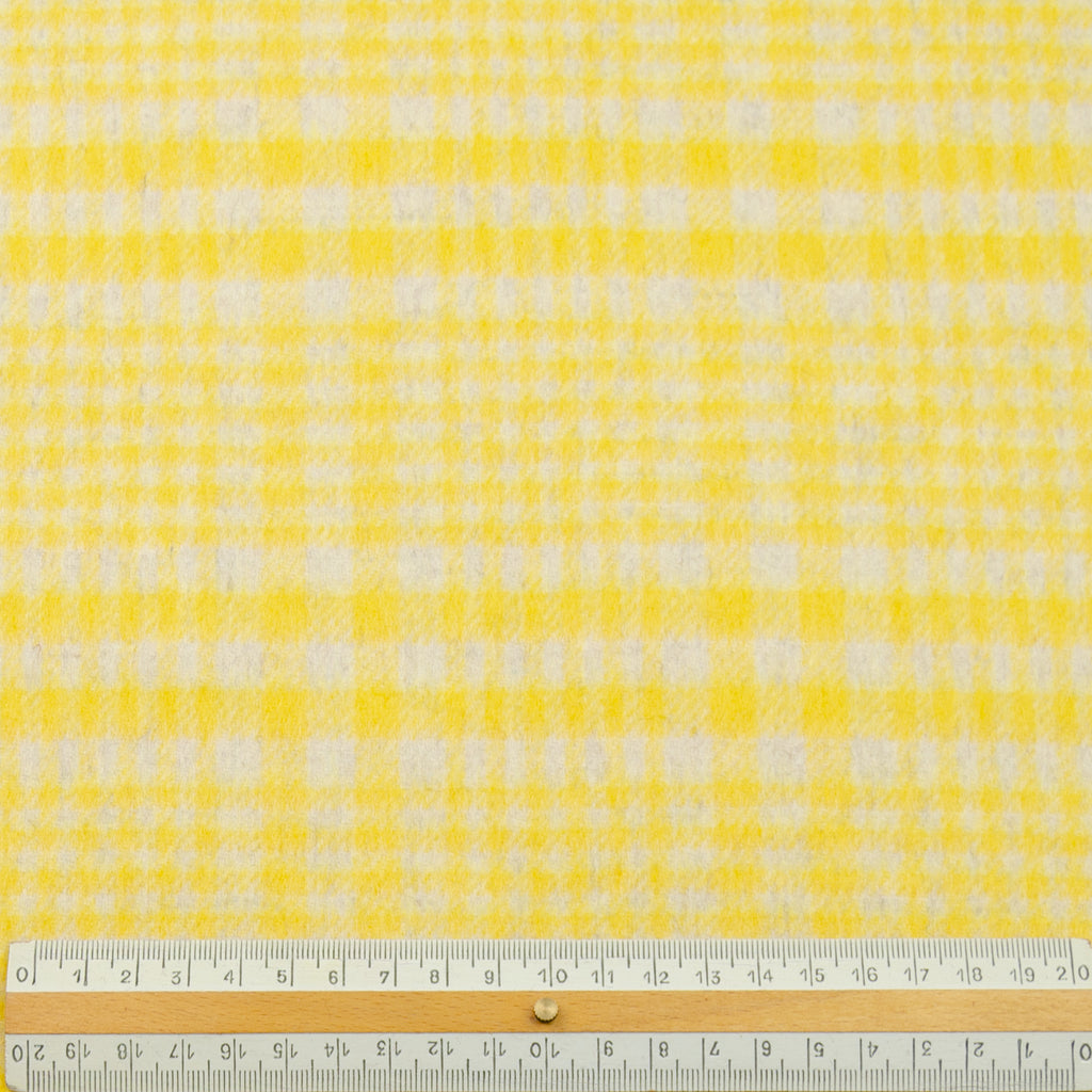 Elene Yellow Check Wool