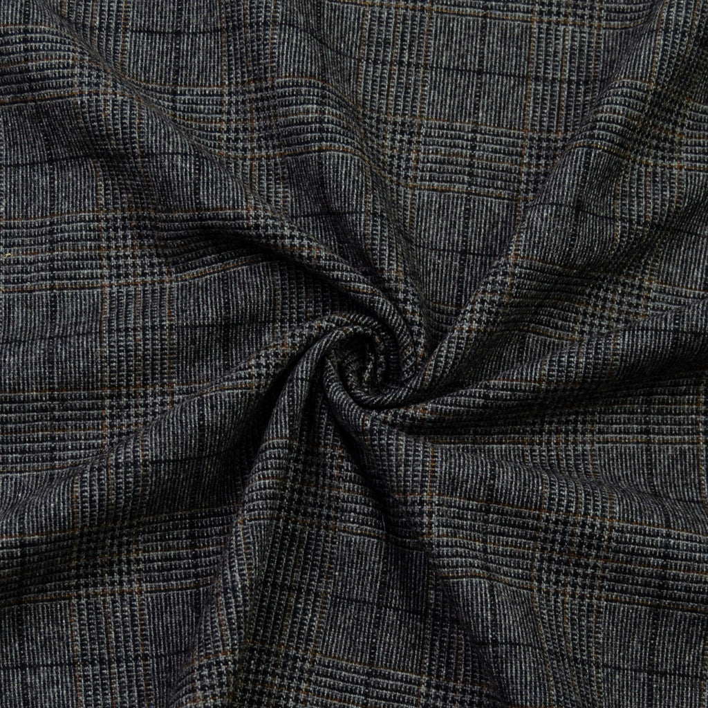 Enan Grey Prince Of Wales Wool