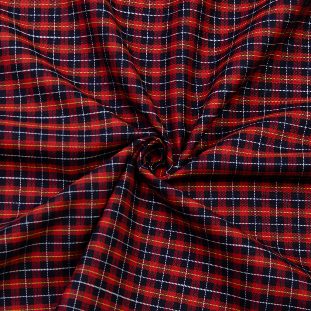Magda Tartan Viscose Cotton Blend