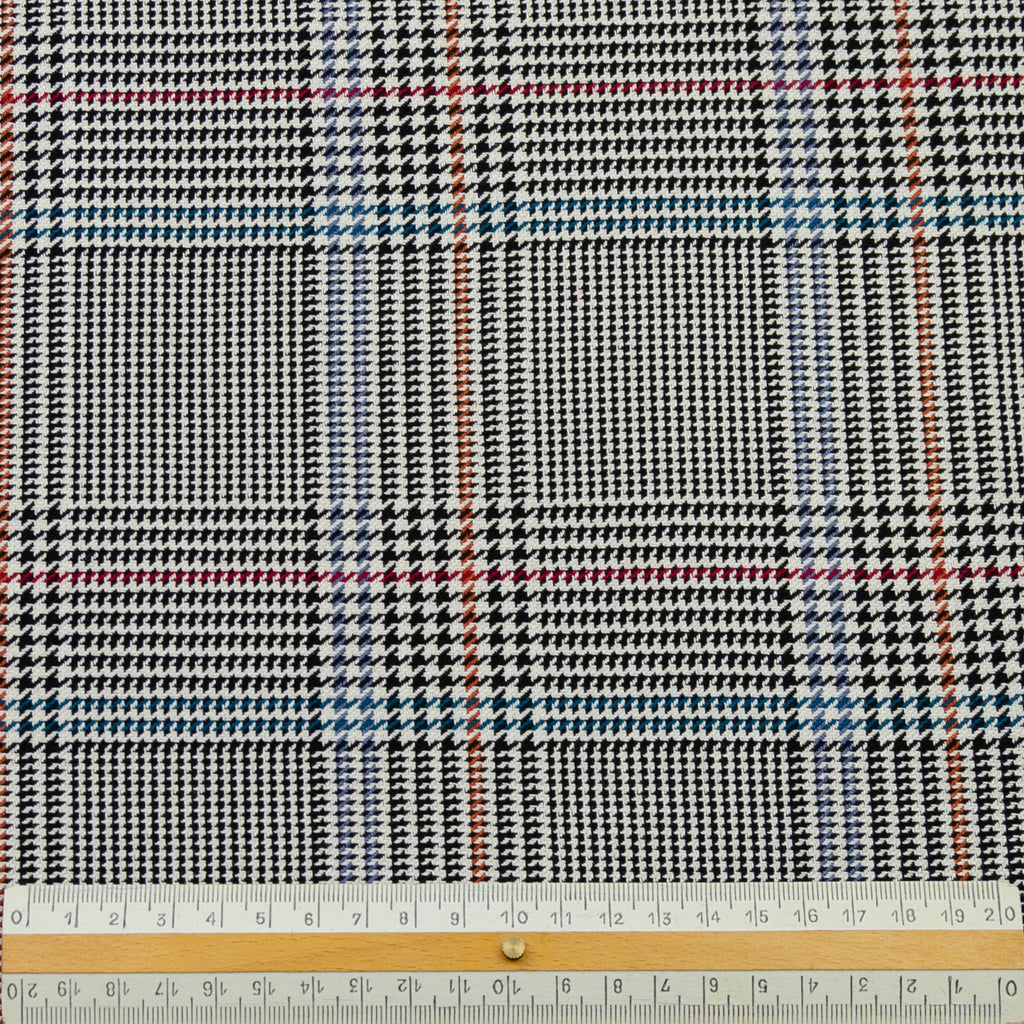 Elinoah Houndstooth Check Viscose Cotton Blend
