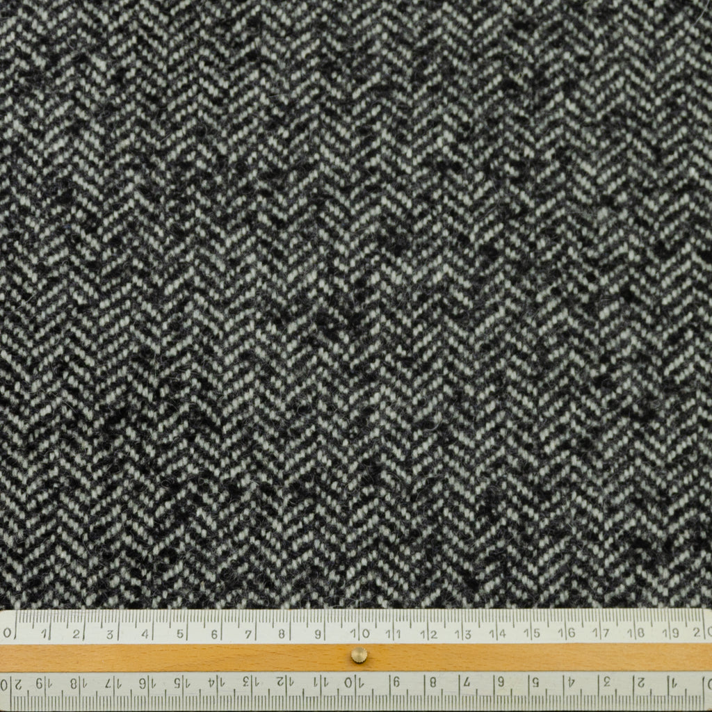 Edina Grey Herringbone Wool