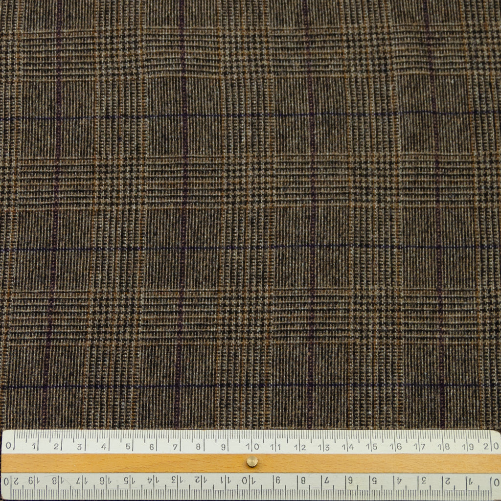 Elitia Coffee Brown Prince Of Wales Wool