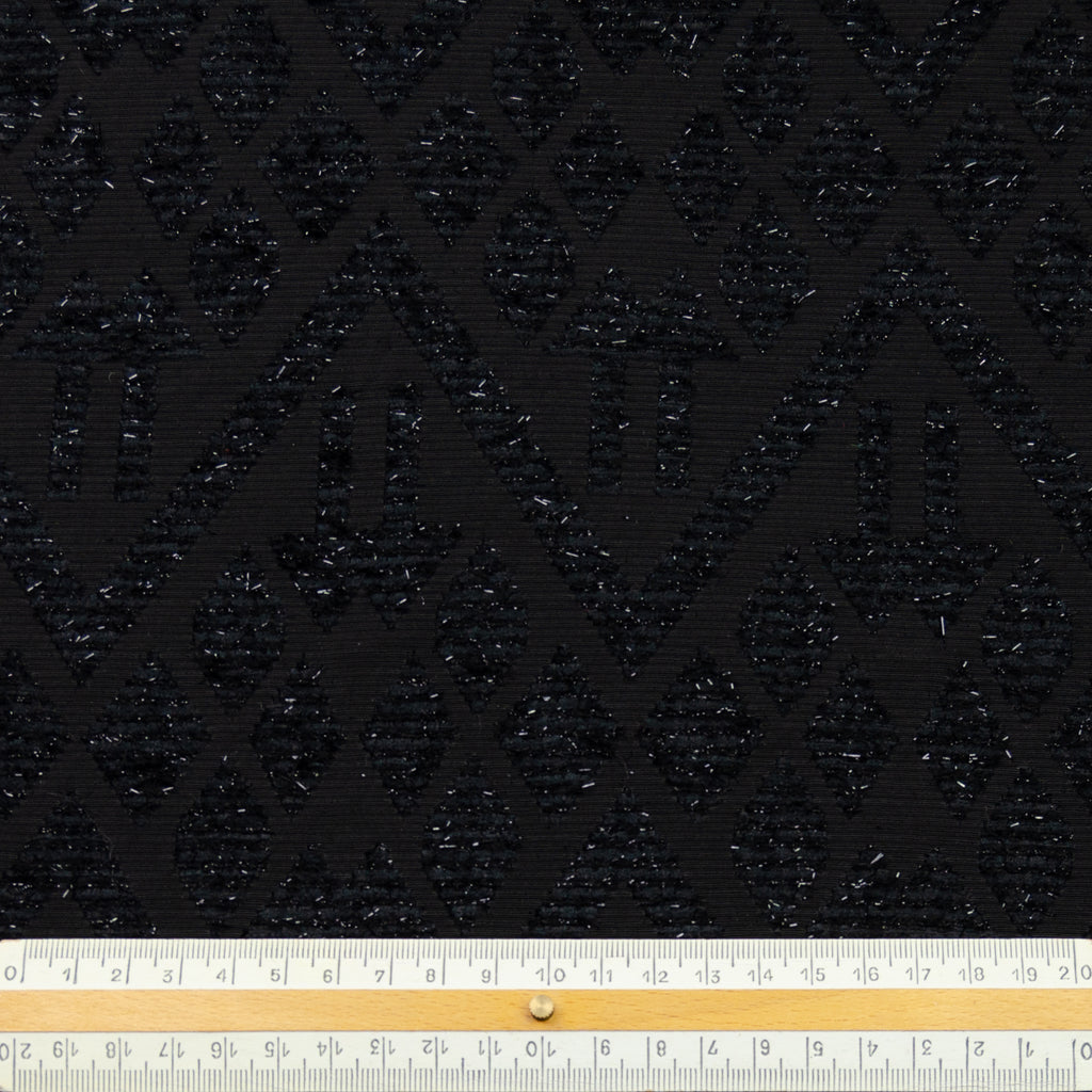 Elio Black Fancy Jacquard Polyester
